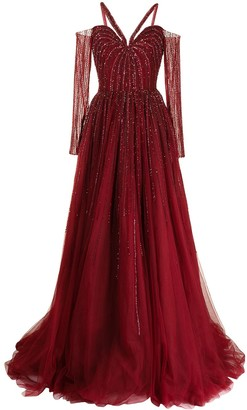 Saiid Kobeisy Sequin-Embellished Gown
