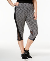 Ideology Plus Size Space-Dyed Cropped Active Leggings, Only at Macy's