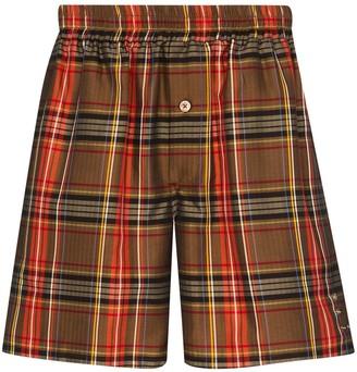 Linder Bennett checked Bermuda shorts
