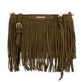 Rebecca Minkoff Finn Crossbody Green Fringe Bag