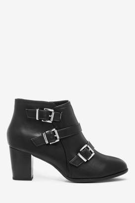 Wallis Womens Wren Black Buckle Boots - Black