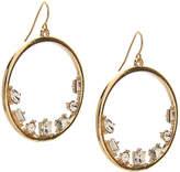 Kelly & Katie Women's Stone Inset Hoop Earrings