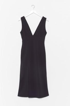 Nasty Gal Womens Deep On Dancing Mdi Dress - Black - 4