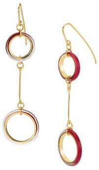 Gold And Honey Thin Lucite Drop Earrings