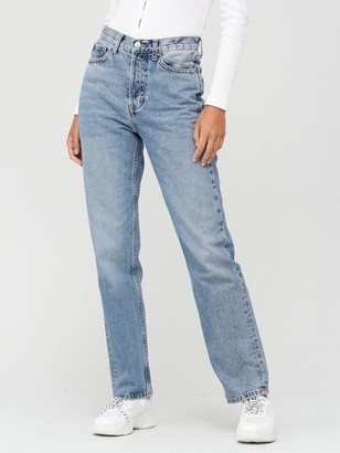 Very Premium High Waist 90s Full Length Jean - Mid Wash