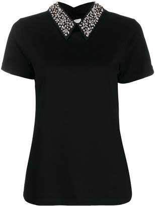 Blumarine detachable collar T-shirt