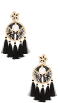 Mercedes Salazar Circulina Earrings in Black.