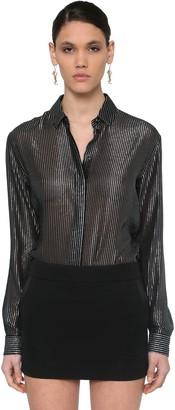 Saint Laurent Striped Lame Jacquard Shirt
