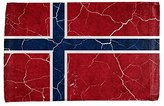 Old Glory Distressed Norwegian Flag All Over Hand Towel Multi Standard One Size
