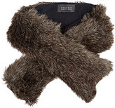 Barneys New York WOMEN'S FAUX-FUR PULL-THROUGH SCARF-BROWN