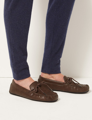 Marks and Spencer Moccasin Slippers with Freshfeet