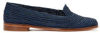 Charlotte Woivre Ines raffia loafers