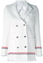 Thom Browne double breasted jacket - women - Silk/Cotton - 44