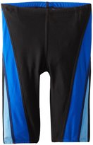 Speedo Big Boy's Youth Launch Splice Jammer Swimsuit, Black Blue,/6