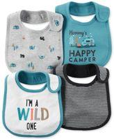 Carter's Baby Boys' 4-Pack Little Wild One Teething Bibs