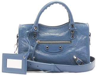 Balenciaga Classic City Arena Leather Bag - Womens - Blue