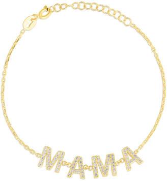 Sphera Milano 18K Yellow Gold Over Silver Cz Mama Bracelet