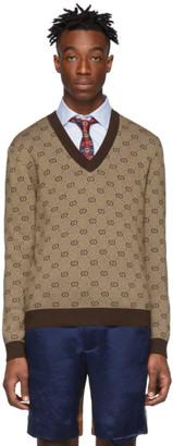 Gucci Brown GG Sweater