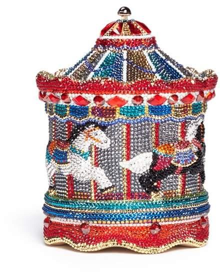 Judith Leiber 'Jane's Carousel' crystal pavé minaudière