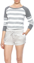 Blanc Noir Crop Stripe Sweater