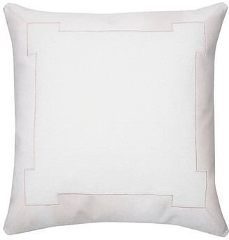 The Piper Collection Collins 24x24 Pillow - White/Blush Velvet
