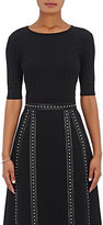 Altuzarra Women's Ozzy Fitted Rib-Knit Sweater-BLACK