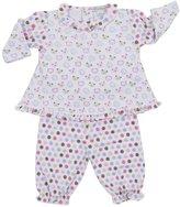 Kissy Kissy Sweet Bears Pant Set (Baby)-Pink-0-3 Months