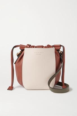 Marni Color-block Leather Shoulder Bag - White