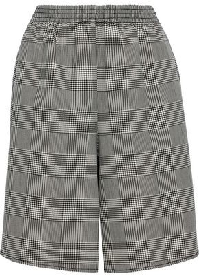 MM6 MAISON MARGIELA Prince Of Wales Checked Wool-blend Shorts