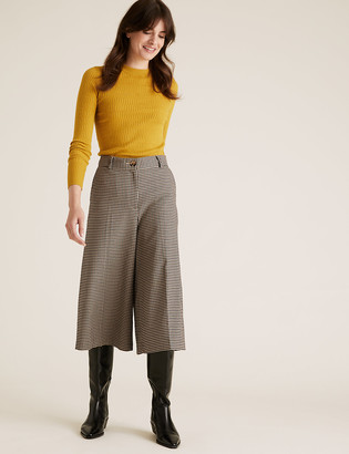 Marks and Spencer Checked High Waisted Culottes