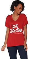 Peace Love World Strong Woman Short SleeveMia T-Shirt