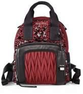 Miu Miu Embellished Leather Trim Backpack
