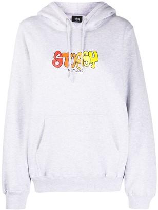 Stussy Logo-Print Hooded Sweatshirt