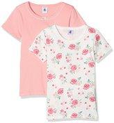 Petit Bateau Girl's Lot 2P T Shirtmc 2576200 Vest