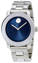 Movado Bold Blue Dial Stainless Steel Unisex Watch, 35mm