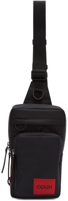 HUGO Black Kombinat Monostrap Messenger Bag