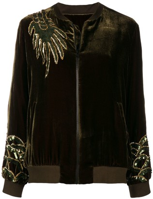 P.A.R.O.S.H. Dragon Embellished Bomber Jacket