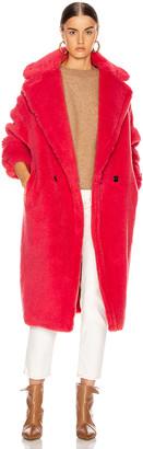 Max Mara Teddy Tedgirl Coat in Coral | FWRD