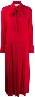 Valentino Pleated technical poplin dress