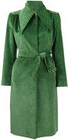 Balenciaga ribbed trench coat - women - Cotton/Cupro - 34