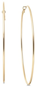 "Thalia Sodi Gold-Tone Slim Extra Large 4"" Extra Large Hoop Earrings, Created for Macy's"