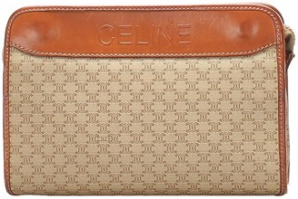 Céline Pre-Owned pre-owned Macadam pattern clutch