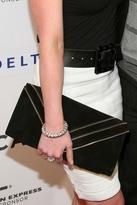 JJ Winters Zipper Suede Envelope Clutch in Black