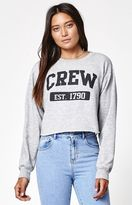 John Galt Cropped Crew Neck Sweatshirt