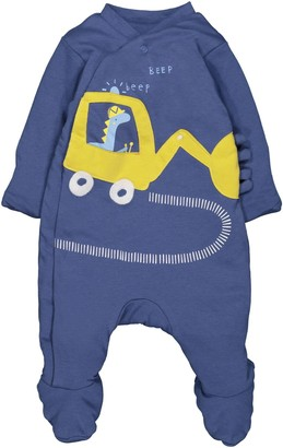 Mothercare Baby Boys Wadded Little Truck Dressing Gown