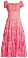 Michael Kors Cap Sleeve Tiered Midi Dress
