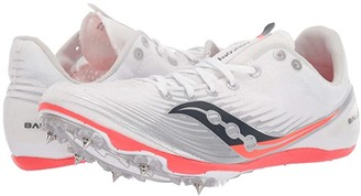 Saucony Ballista MD (White/Vizi Red) Women's Shoes