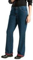 Dickies Women's Plus Size Flannel Lined Jean
