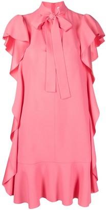 RED Valentino Ruffle-Detail Shirt Dress
