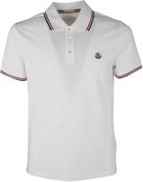 Moncler Contrast-Trim Polo Shirt